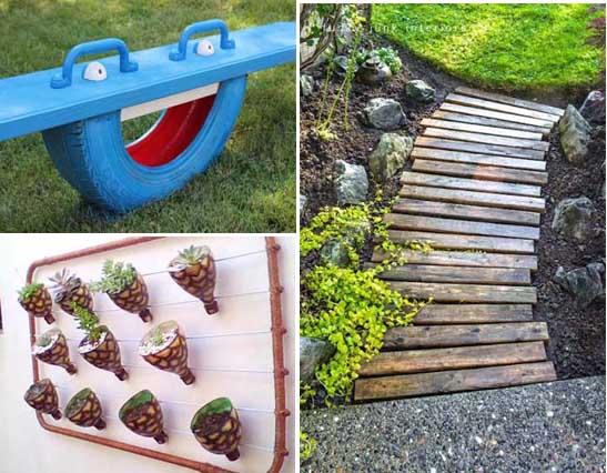 Ideas Bonitas Recicladas Para Decorar Todo Tipo De Jardines - Ideas-decoracion-jardin