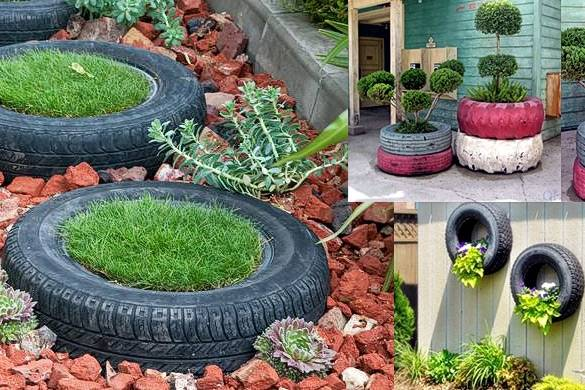 Ideas bonitas recicladas para decorar todo tipo de for Arreglar jardines pequenos