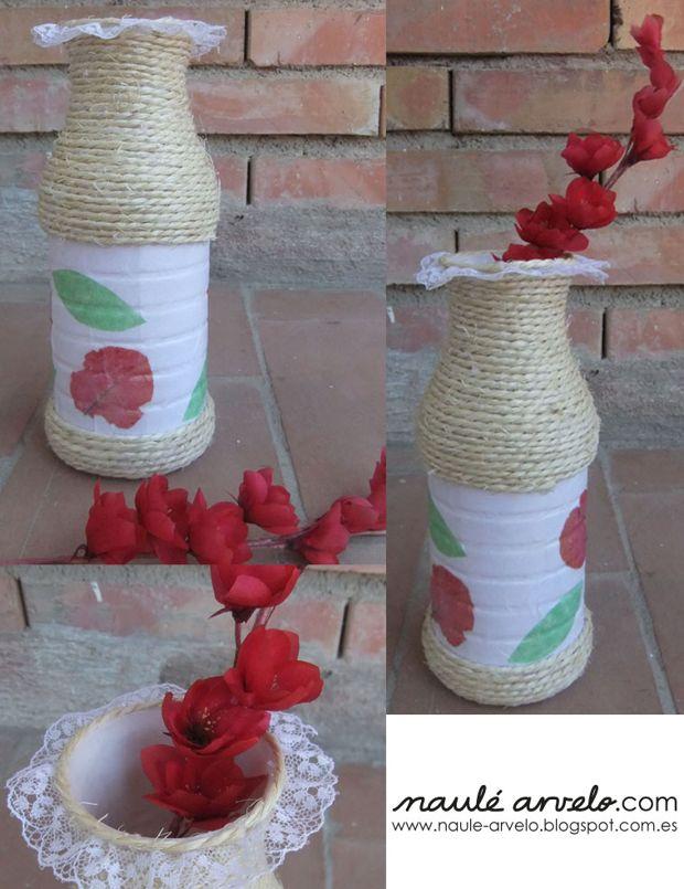 jarron-con-envases-reciclados