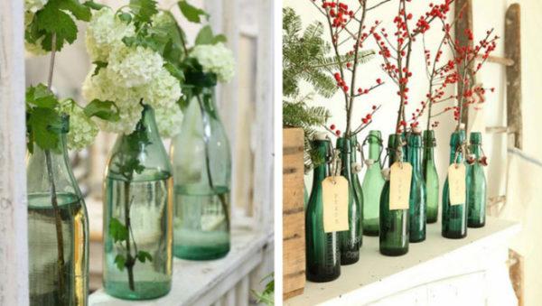 Ideas bonitas hechas con botellas de vidrio y frascos - Manualidades con botellas de cristal ...