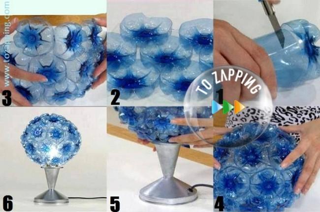 Tozapping-como-hacer-una-lampara-con-botellas-de-plastico-736x489