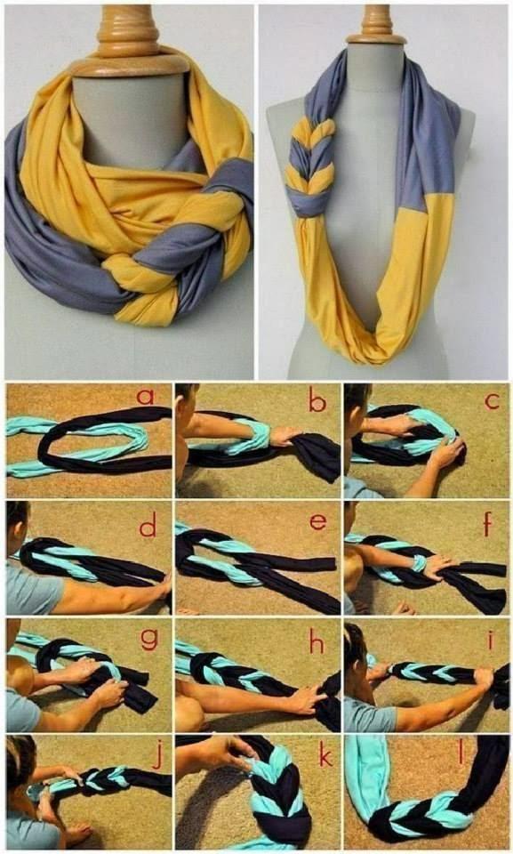 ideas e imagenes de bufandas geniales paso a paso reutilizando ropa