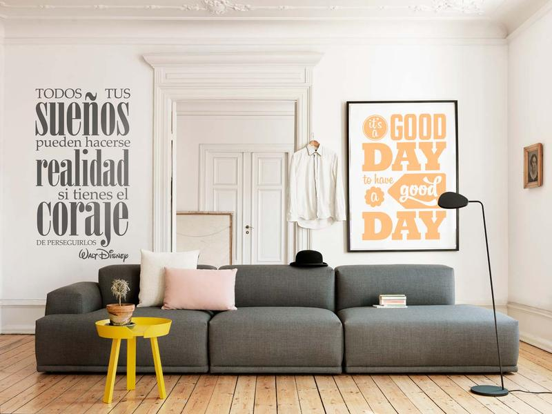 Ideas Decorar Pared Tenvinilo_vinilo Decorativo Frase Walt Disney_ampliacion