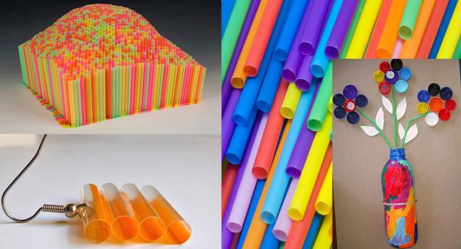 Manualidades originales para ni os con sorbetes o pajitas - Colores para reciclar ...
