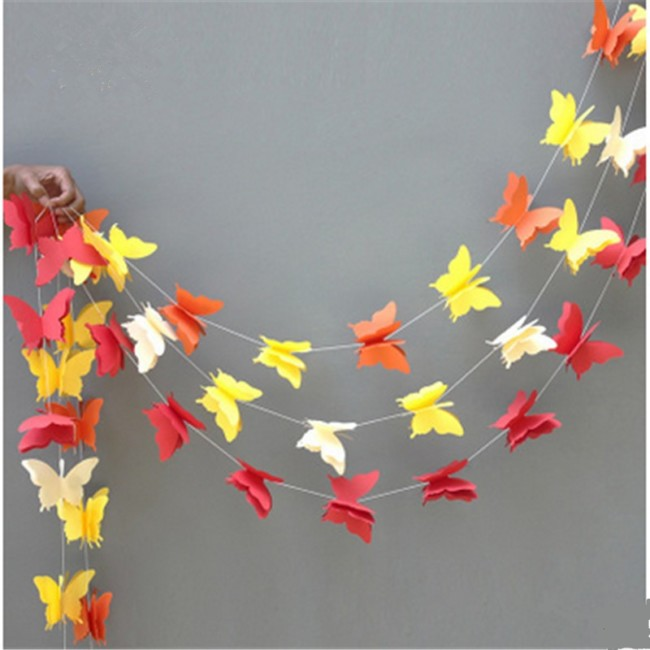 guirnaldas con mariposas - Hacer Guirnaldas