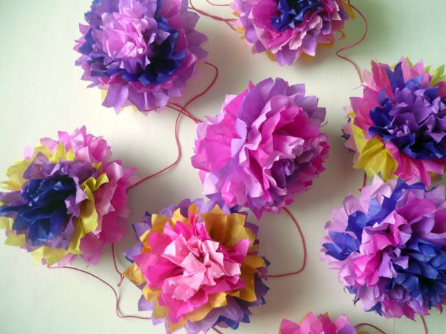 40 Guirnaldas Originales Recicladas Como Hacer Las Guirnaldas - Como-hacer-guirnaldas-de-papel-de-seda