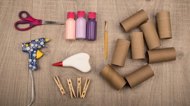 Manualidades infantiles de reciclaje de tubos de cart n - Trabajos manuales para adultos ...