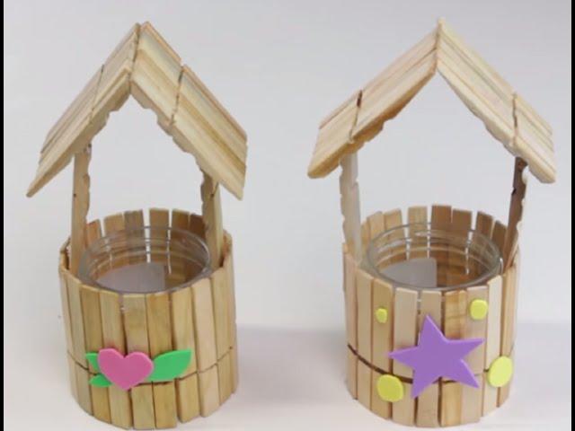 30 manualidades con palitos de helado de madera reciclados for Trabajos artesanales para hacer en casa