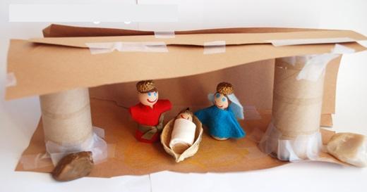 6 Pesebres navideños artesanales reciclados: Manualidades en ...