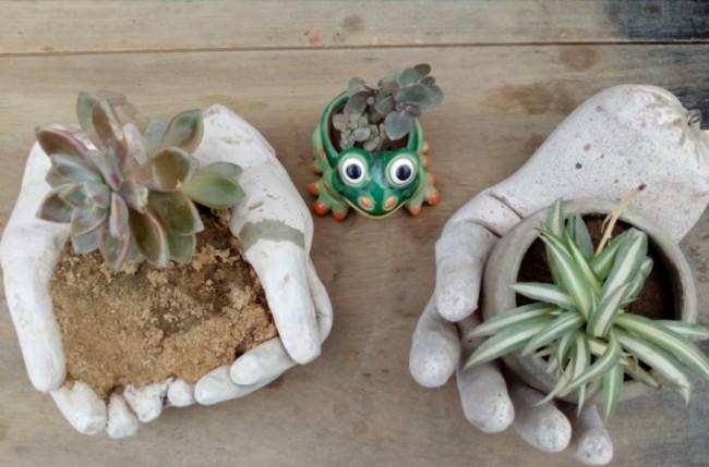 Manualidades Con Cemento Para Jardin Macetas Manualidades Y Reciclados