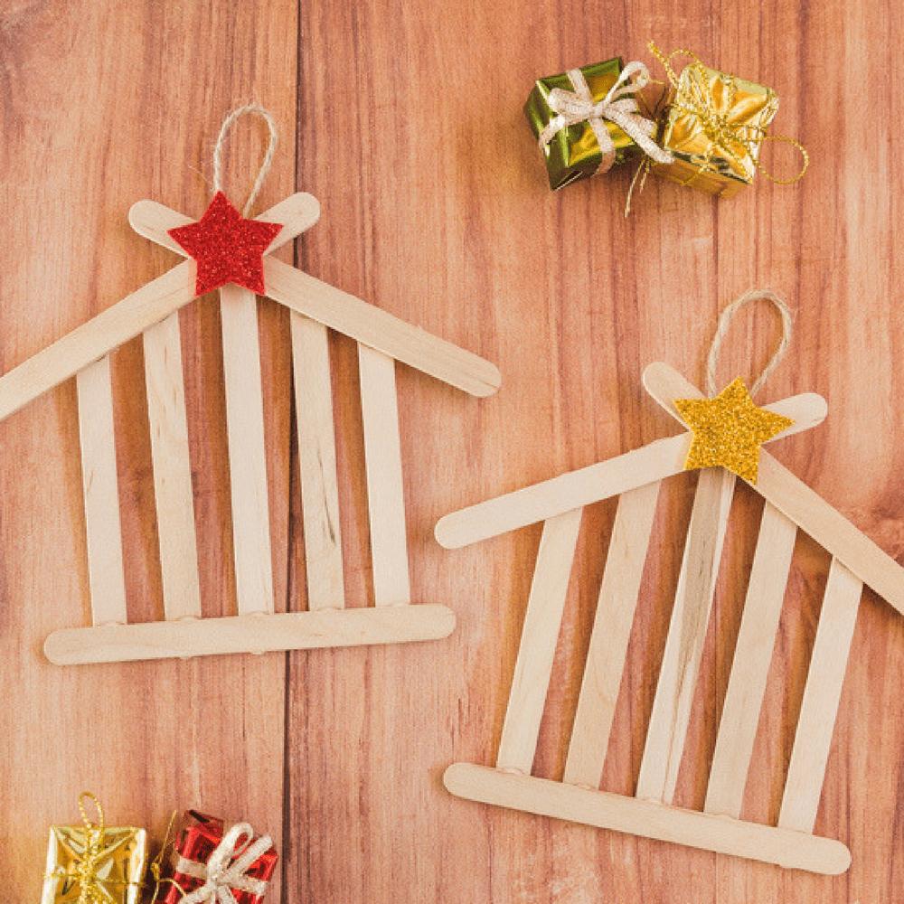 10 manualidades con palitos de helado faciles originales - Trabajos manuales de navidad para ninos ...